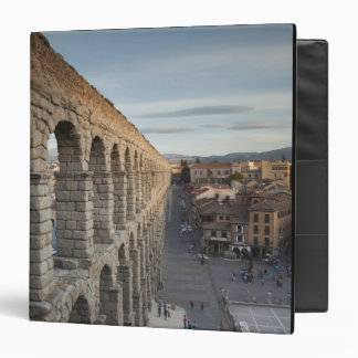 Town view over Plaza Azoguejo & El Acueducto 3 Ring Binder