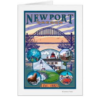 Town Views - Newport, Oregon Card