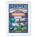 Town Views - Newport, Oregon Greeting Card