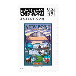 Town Views - Newport, Oregon Postage