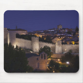 Town walls from Los Cuarto Postes, dusk Mouse Pad