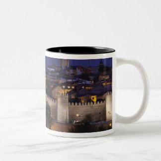 Town walls from Los Cuarto Postes, dusk Two-Tone Coffee Mug
