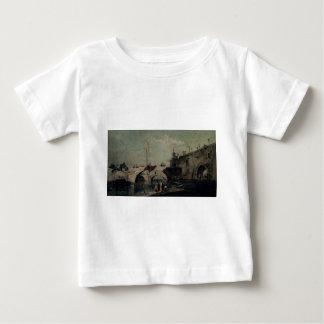 Town with a Bridge by Francesco Guardi Baby T-Shirt
