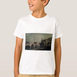 Town with a Bridge by Francesco Guardi T-Shirt
