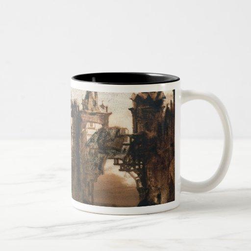 Town with a Broken Bridge Mug