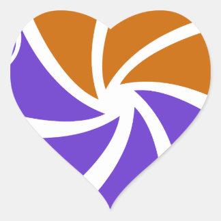 """TownCrafter """"junto"""" logotipo Pegatina En Forma De Corazón"""