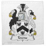 Towne Family Crest Cloth Napkin