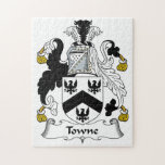 Towne Family Crest Jigsaw Puzzles