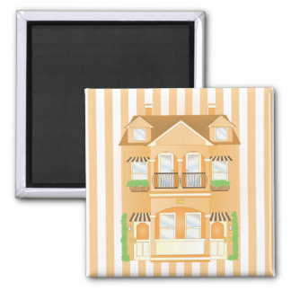 Townhouse 2 Inch Square Magnet