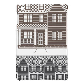TownHouse row of townhomes vector Cover For The iPad Mini
