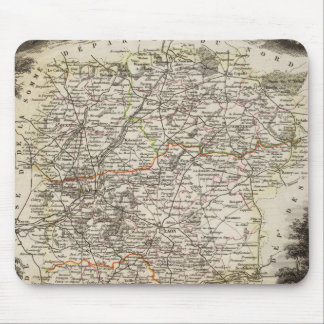 Towns and cities shown Color along boundaries Mouse Pad