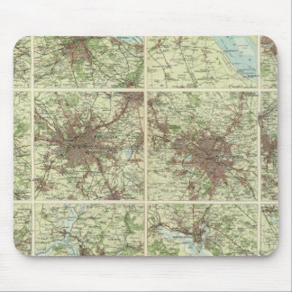 Towns of England & Scotland on a uniform scale Mouse Pad