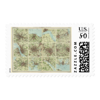 Towns of England & Scotland on a uniform scale Postage