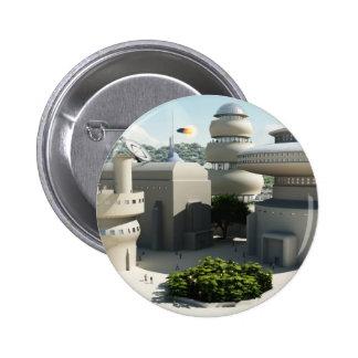 Townscape futurista de la ciencia ficción pins