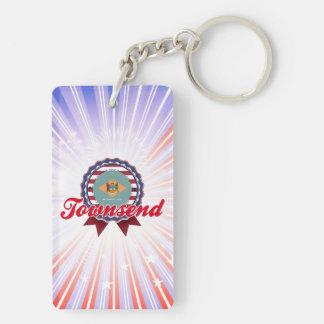 Townsend, DE Rectangular Acrylic Keychain