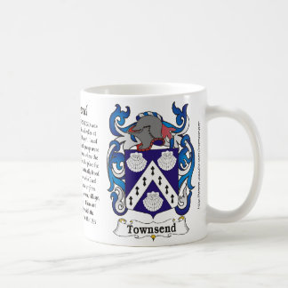 Townsend Family Coat of Arms mug