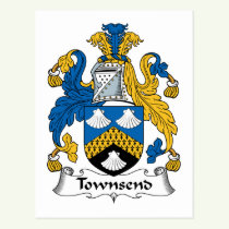 Townsend Family Crest Postcard