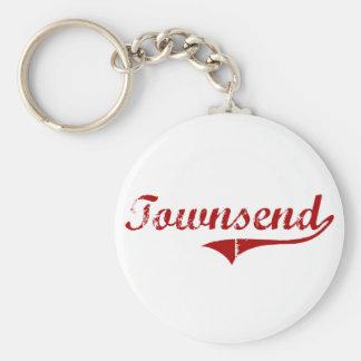 Townsend Massachusetts Classic Design Key Chain