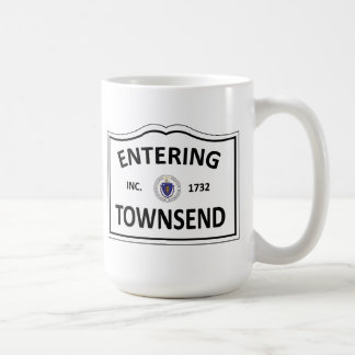 TOWNSEND MASSACHUSETTS Hometown Mass MA Townie Coffee Mug