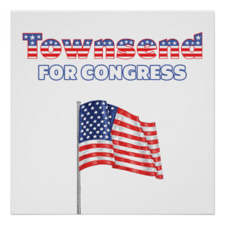Townsend para la bandera americana patriótica del  posters