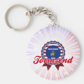 Townsend, WI Keychain