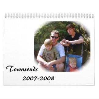 Townsends         2007-2008 calendarios de pared