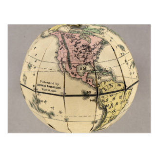 Townsend's Patent Folding Globe Postcard