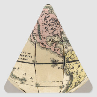 Townsend's Patent Folding Globe Triangle Sticker