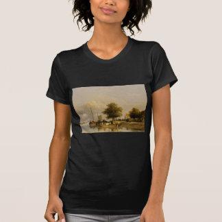 Townsfolk on a quay, Wijk Bij Duursrede T-Shirt