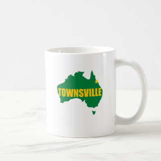 Townsville Green and Gold Map Mug