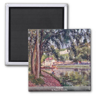 Towpath By Pissarro Camille Fridge Magnet