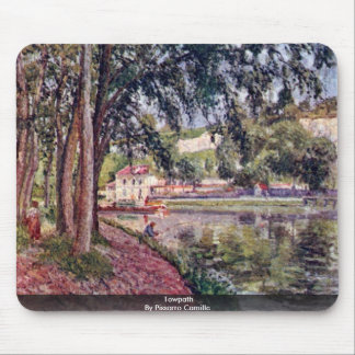 Towpath By Pissarro Camille Mouse Pads