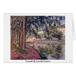 Towpath de Camille Pissarro Tarjeta De Felicitación