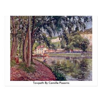 Towpath de Camille Pissarro Tarjeta Postal