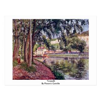 Towpath de Pissarro Camilo Tarjeta Postal