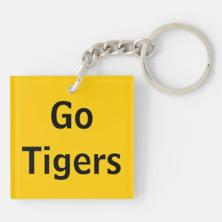 Towson Equestrian two-sided square keychain