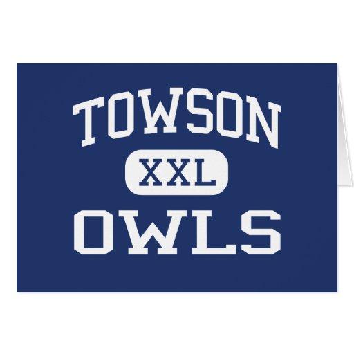 Towson - Owls - Catholic - Towson Maryland Card
