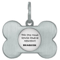TOWT - Medical Attention Dog Tag Diabetic