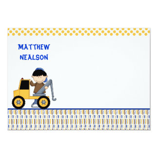 Towtruck Custom Stationery Card