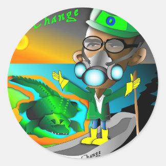 Tox Sick Change Classic Round Sticker