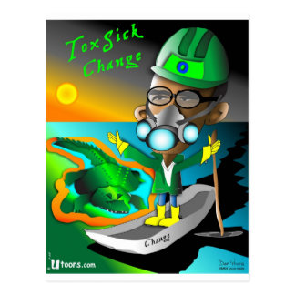 Tox Sick Change Postcard