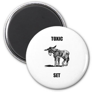 toxic asset 2 inch round magnet