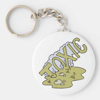 Toxic Basic Round Button Keychain