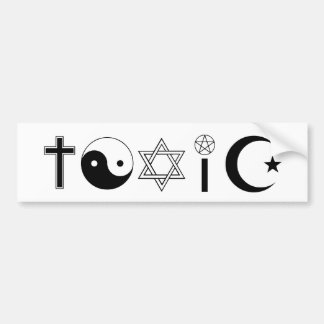 TOXIC Bumper Sticker Car Bumper Sticker