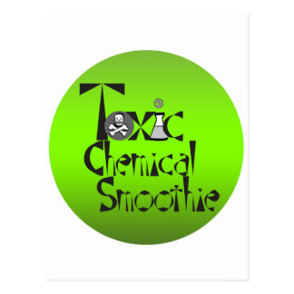 Toxic Chemical Smoothie Circle Postcards