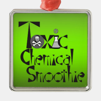 Toxic Chemical Smoothie Square logo Metal Ornament