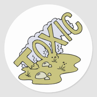 Toxic Classic Round Sticker
