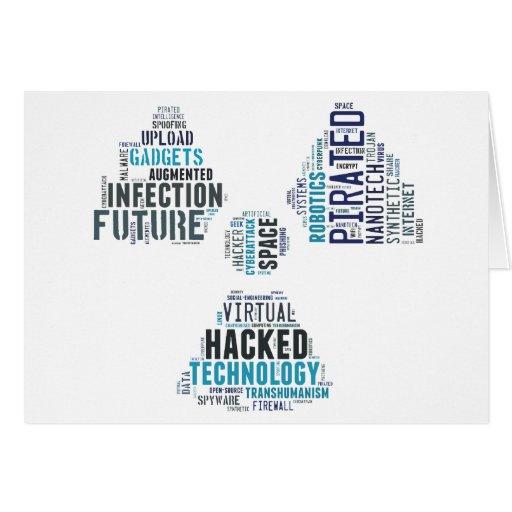 Toxic Cyberpunk Hacker Greeting Cards