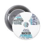 Toxic Cyberpunk Hacker Pin