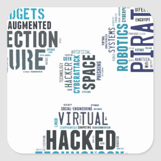 Toxic Cyberpunk Hacker Square Sticker